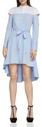BCBGMAXAZRIA Leandra Color-Block Shirt Dress