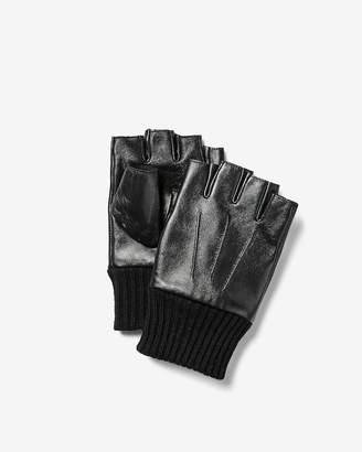 Express Fingerless Leather Gloves