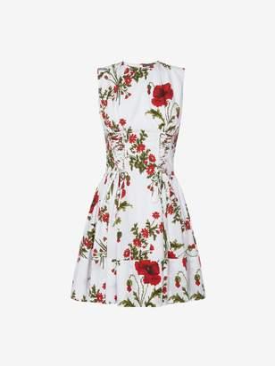 Alexander McQueen Poppyfield Poplin Mini Dress