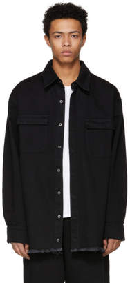 Marques Almeida SSENSE Exclusive Black Oversized Denim Shirt