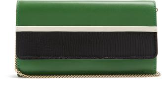 LANVIN Lizard-effect leather clutch $895 thestylecure.com