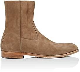 Buttero Men's Suede Side-Zip Boots - Beige, Tan