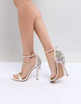 Barely There Chi Chi London Bridal Heeled Sandal With Embellishment