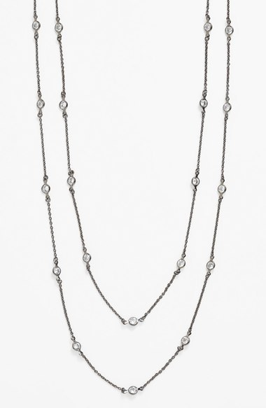 Nordstrom Alainn Extra Long Bezel Station Necklace Exclusive)