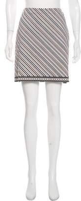 Michael Kors Polka Dot Striped Mini Skirt