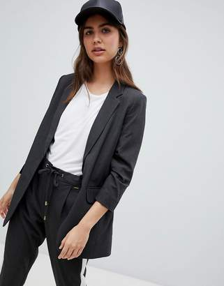 B.young suit jacket with ruched sleeves