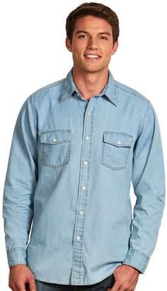 Antigua Men's Modern-Fit Chambray Button-Down Shirt