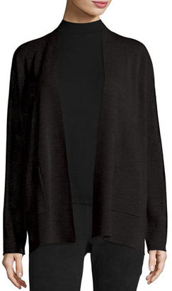 Eileen Fisher Fine Merino Wool Straight Cardigan $248 thestylecure.com