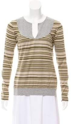 CNC Costume National Striped Knit Top