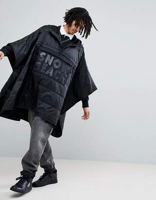 Polo Ralph Lauren Snow Beach Limited Capsule Overhead Poncho Jacket In Black