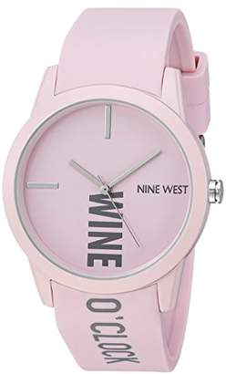 Nine West Women's Quartz Metal and Rubber Dress Watch
