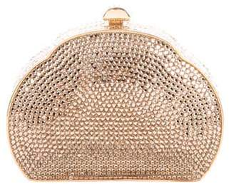 Judith Leiber Crystal-Embellished Mini Clutch Gold Crystal-Embellished Mini Clutch