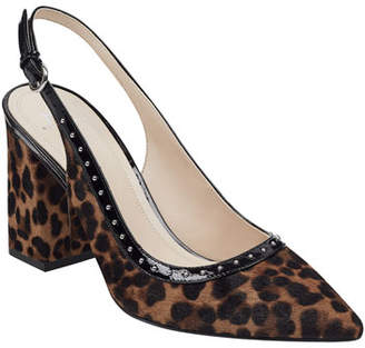 Marc Fisher Joily Leopard Studded Pumps