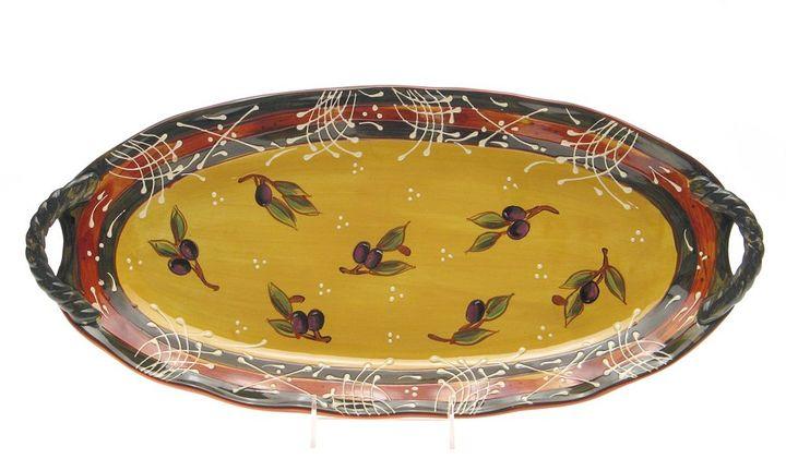 Certified International French Olives Serving Platter
