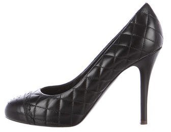 Chanel Cap-Toe Quilted Pumps