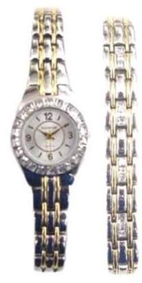 Elgin Women's Two Tone Dress Watch and Bracelet Set EG8073