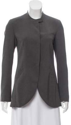Emporio Armani Long Sleeve Mandarin Collar Blazer