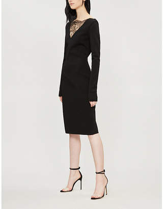 Givenchy Lace-trimmed stretch-knit dress