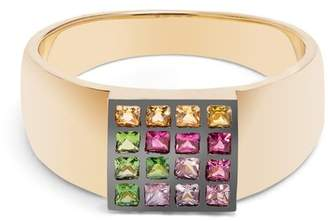 Ileana Makri Sapphire, Ruby, Tsavorite & Yellow Gold Ring - Womens - Yellow Gold