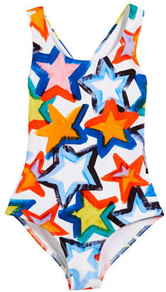 Milly Minis Stars Cross-Back One-Piece Swimsuit, Size 8-14