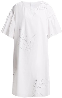 Cambridge Silversmiths Merlette Print Cotton Poplin Dress - Womens - White Print
