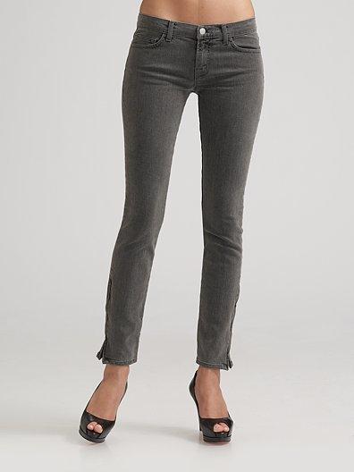 J Brand Skinny Ankle-Zip Jeans