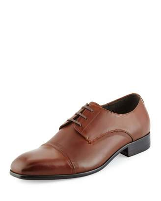 Kenneth Cole Wall 2 Wall Cap-Toe Leather Oxford, Cognac $149 thestylecure.com