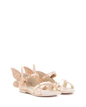 Sophia Webster Chiara Metallic Butterfly Sandal, Toddler/Youth Sizes 5T-3Y