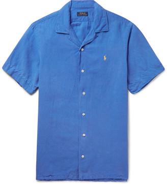 Polo Ralph Lauren Camp-Collar Linen, Tencel and Cotton-Blend Shirt - Men - Blue