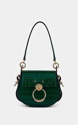 Chloé Women's Tess Small Crocodile-Stamped Leather Shoulder Bag - Green