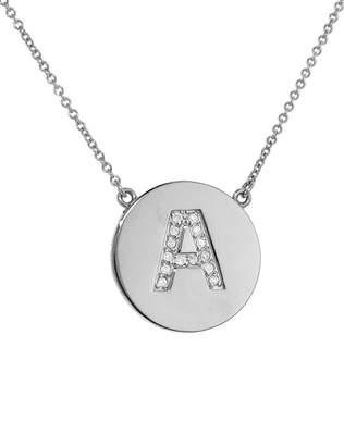 Jennifer Meyer Diamond Letter Pendant Necklace - White Gold