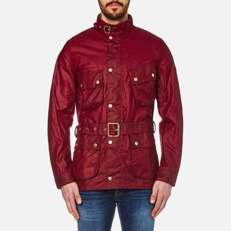 Barbour International Men's Gauging Wax Jacket Red