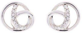 Karen Millen Crystal ribbon earrings