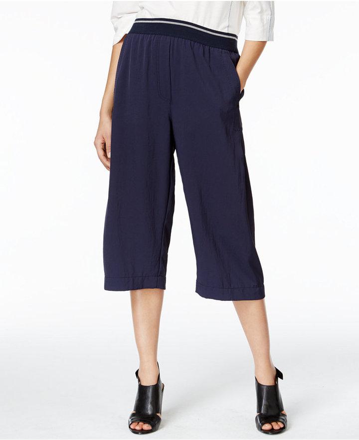 DKNYDKNY Pull-On Cropped Wide-Leg Pants