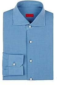 Isaia Men's Cotton-Linen Shirt - Blue
