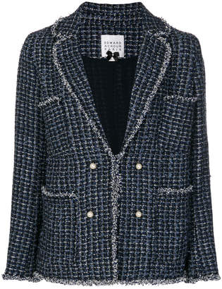 Edward Achour Paris pearl-button tweed jacket