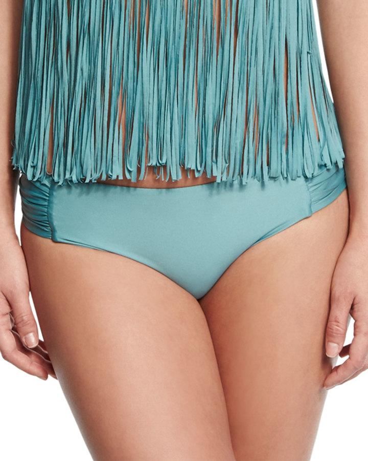 Luxe by Lisa Vogel Premier Shirred-Side Swim Bottom 5