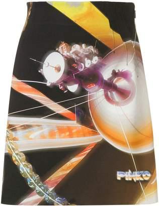 Pinko space print mini skirt