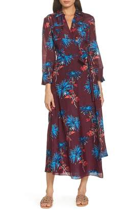Diane von Furstenberg Long Cover-Up Wrap Dress