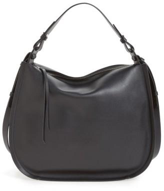Allsaints Kanda Leather Hobo - Black $348 thestylecure.com
