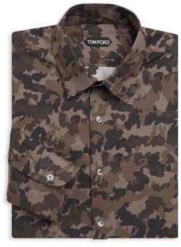 Tom Ford Camouflage Cotton Dress Shirt
