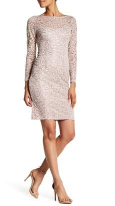Marina Illusion Yoke Sequin Lace Sheath Dress $119 thestylecure.com