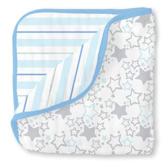 Swaddle Designs 4-Layer Cotton Muslin Luxe Blanket, Cuddle and Dream, Starshine Shimmer