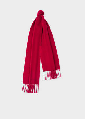 Paul Smith Red Cashmere Scarf