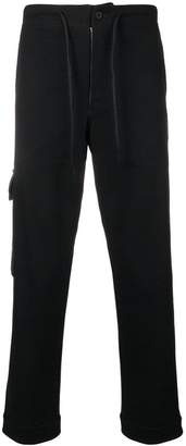 Y-3 dropped crotch track trousers