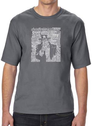 SAM. LOS ANGELES POP ART Los Angeles Pop Art Men's Tall and Long Word Art T-shirt - UNCLE