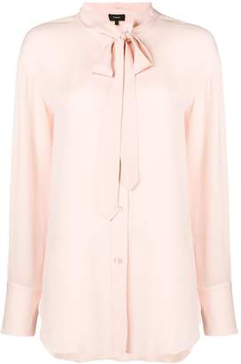 Theory long-sleeve fitted blouse
