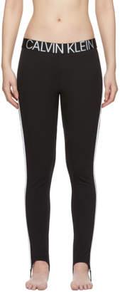 Calvin Klein Underwear Black Stirrup Statement Leggings