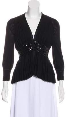 Just Cavalli Wool Pleated Cardigan