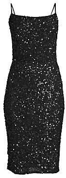 Leighton shoes Parker Black Women's Sequin Spaghetti Strap Dress